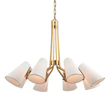 Hudson Valley 6348-AGB - 8 LIGHT CHANDELIER