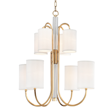 Hudson Valley 9108-AGB - 8 LIGHT CHANDELIER
